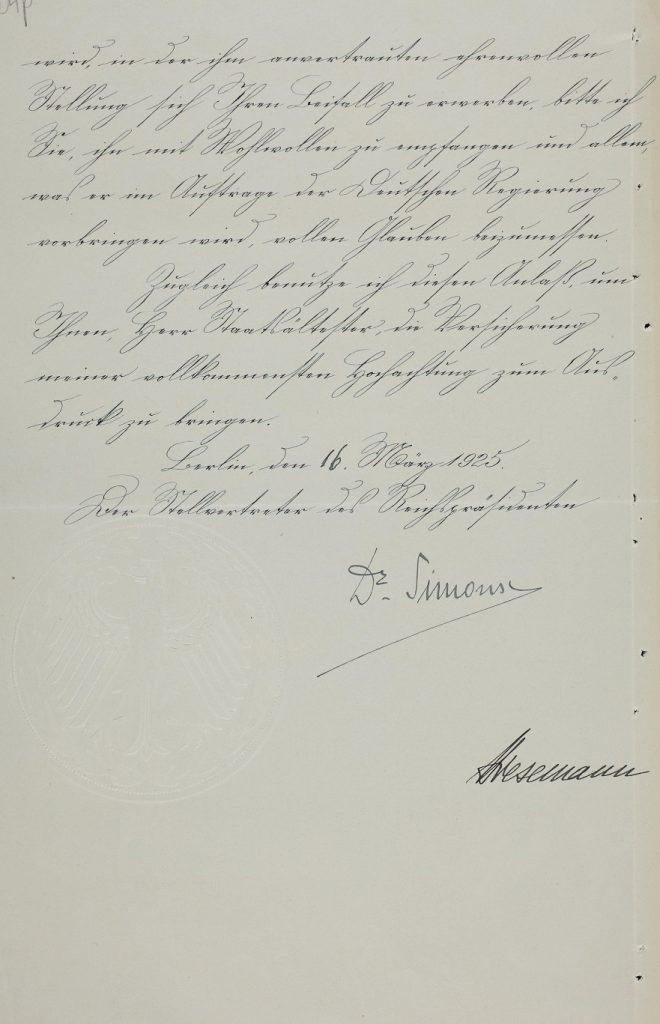 Wolfgang Franks Vollmacht. Foto: Estnisches Nationalarchiv ERA.957.7.8