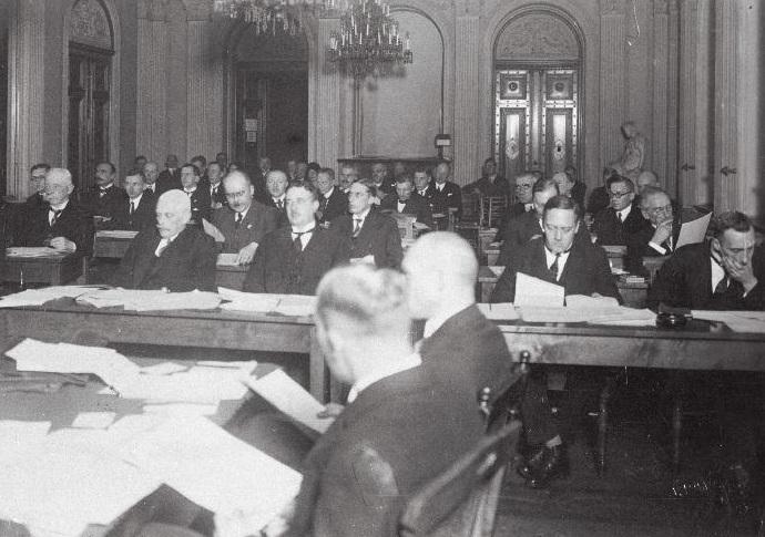 Saksa kultuuromavalitsuse istung 1930. aastatel. Foto: Rahvusarhiiv
