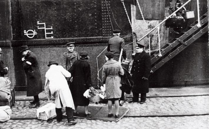 Die Baltendeutschen verlassen Estland, 18. Oktober 1939. Foto: Estnisches Nationalarchiv