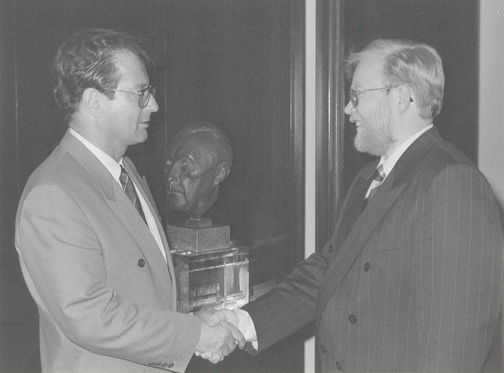 Kalus Kinkel ja Mart Laar 28. juunil 1993. Foto: Eesti suursaatkond Berliinis