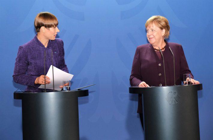 Kersti Kaljulaid ja Angela Merkel 2019. aastal. Foto: Eesti suursaatkond Berliinis